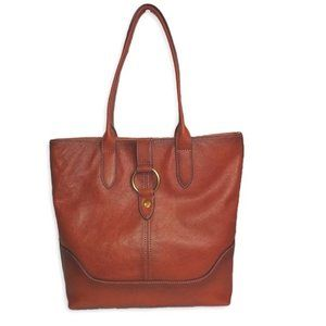 New FRYE genuine leather ring tote cognac